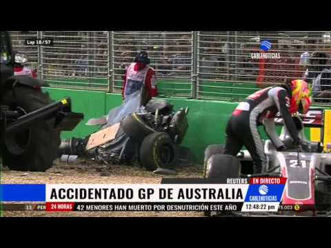 Fernando Alonso, fuera del GP de Australia tras aparatoso accidente