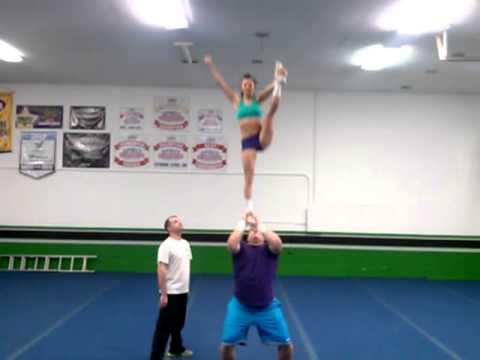 Partner Stunts For Beginners Cheerleading Partner Stunt