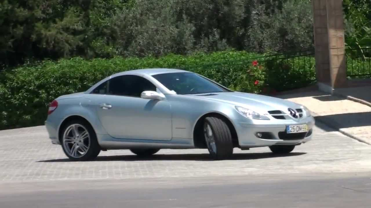 mercedes benz slk 200 kompressor exterior lines r171 hd youtube. Black Bedroom Furniture Sets. Home Design Ideas
