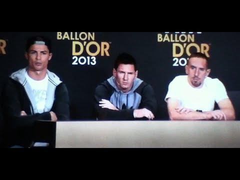 FIFA Ballon d'or Weltfußballer 2013 Ronaldo Messi Ribery Pressekonferenz auf SSNHD