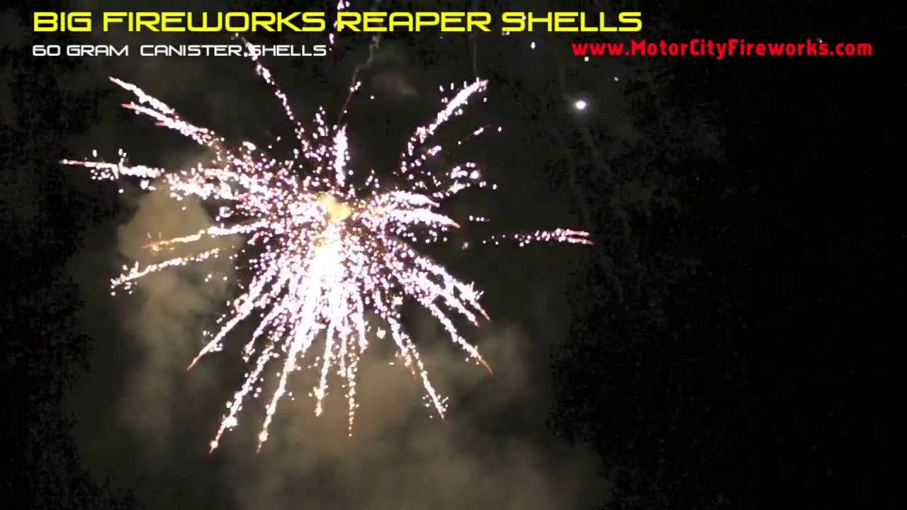 Big Fireworks Reaper Shells by Red Apple Fireworks - YouTube