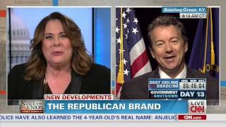 Rand Paul laughs at Candy Crowley asking if he'd become a Democrat