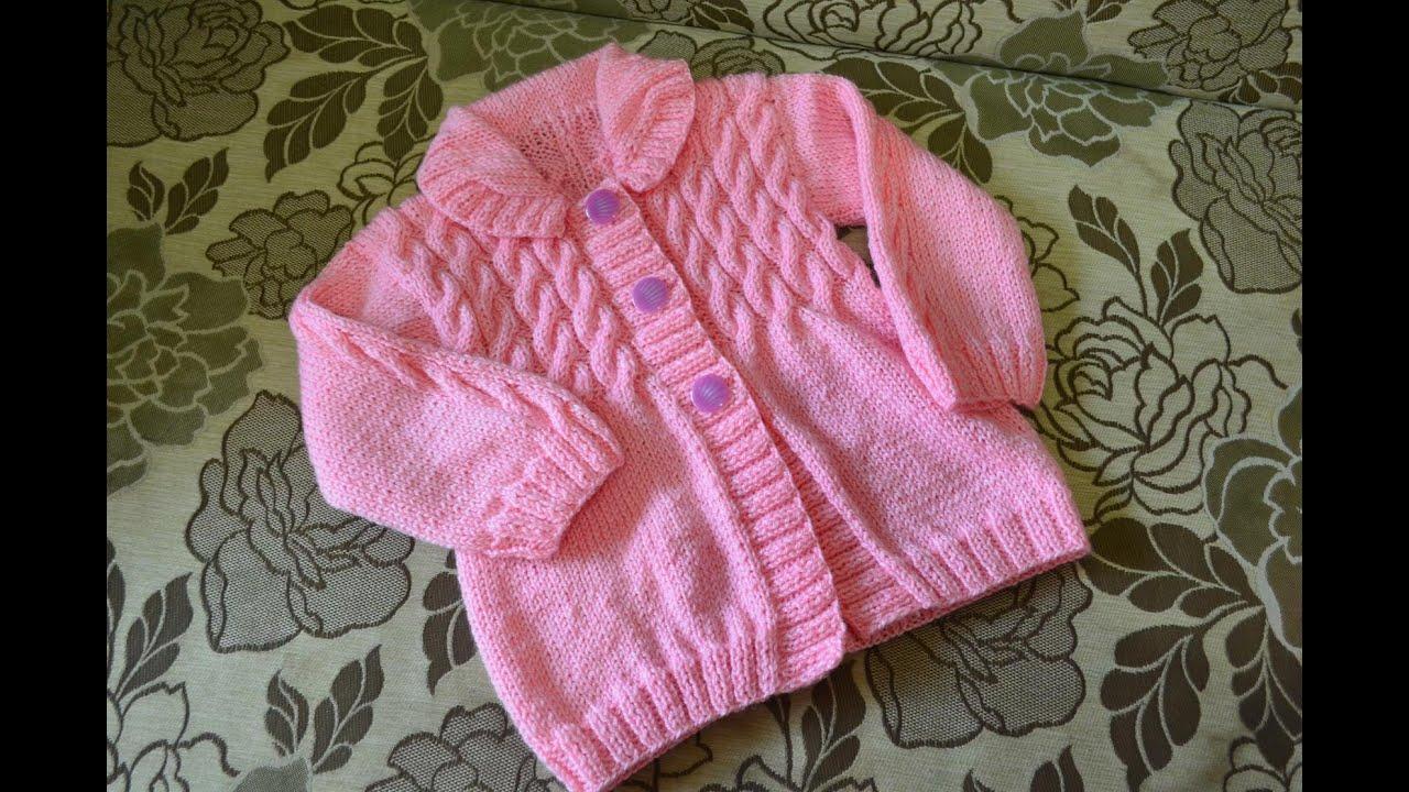 Вязание кофт спицами для девочки