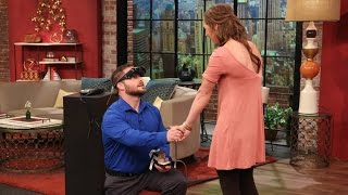 A Visually Impaired Man Proposes to His Girlfriend Who He Just Saw for the First Time