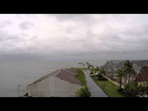 Time Lapse - Typhoon Ruby / Hagupit Approaches Calbayog, Philippines