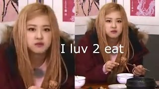 Rosé can't stop eating