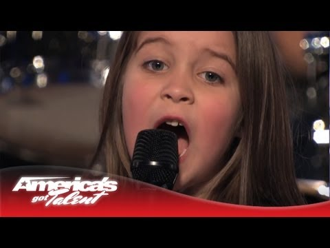 "6-Year-Old Aaralyn Screams Her Original Song, ""Zombie Skin"" - America s Got Talent"