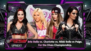Wwe 2k15 - Brie Bella Vs.  Charlotte Vs. Nikki Bella Vs.  Paige (For the Divas Championship)