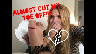 GOT MY HEART BROKE AND CUT MY TOE OFF. (emotional)