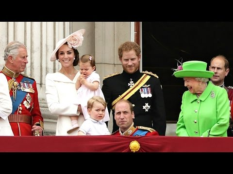 Queen's 90th Prince George and Princess Charlotte Make First Joint Buckingham Palace Balcony