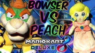 ABM: Bowser Impressing Peach!?! Bowser Vs Peach !! Mario Kart 8 Deluxe !! Gameplay Match !! HD