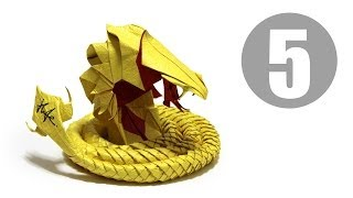 Part5/5 : How to fold Origami Devil Cobra / Hell Cobra 摺紙魔鬼眼鏡蛇教學