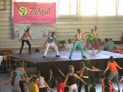Zumba Master Class, Sibiu 2010 - Warm Up video