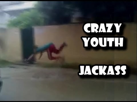swimmer jackass in street
