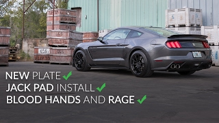 Jack Pad Install Fail and New Plate on the GT350