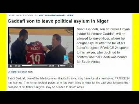 HERO SAADI GADDAFI LEAVING POLITICAL ASYLUM IN NIGER! LINK BELOW!