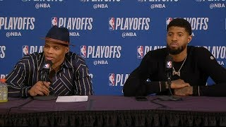 Russell Westbrook & Paul George Postgame Interview - Game 2 | Thunder vs Blazers | 2019 NBA Playoffs