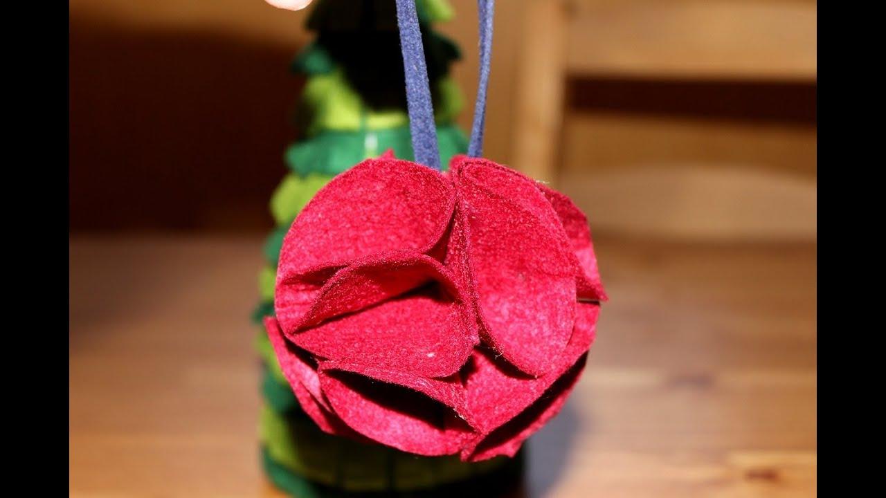 C mo hacer una bola de navidad de fieltro - Bolas de navidad de fieltro ...
