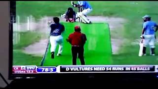 Funny indian bowler