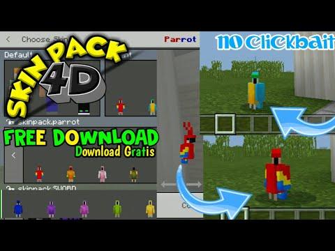 SKIN PACK 4D PARROT (KAKAKTUA) - MINECRAFT SKINS