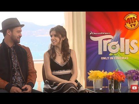 Anna Kendrick, Justin Timberlake Interview - Trolls