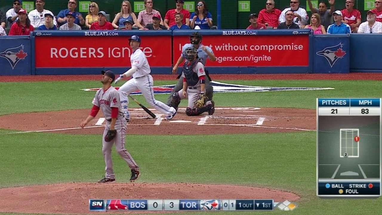 BOS@TOR: Smoak connects for a two-run homer