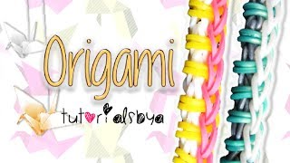 NEW EASY Origami Rainbow Loom Bracelet Tutorial | How To