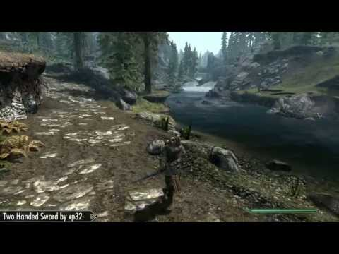 Skyrim Mod Feature: New Animation - Two Handed Sword - by xp32