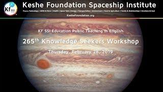 265th Knowledge Seekers Workshop Thurs February 28, 2019