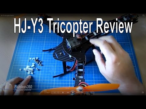 HJ-Y3 Tricopter Frame Kit  - Overview, Build Summary and Review (kit from TomTop.com)