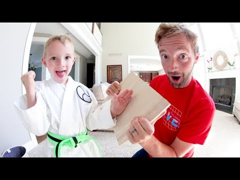 FATHER SON KARATE BOARD BREAKING TIME!