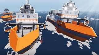 TSUNAMI SURVIVAL IN A CONVOY! - Stormworks Multiplayer Gameplay - Plane Crash & Tsunami Survival!