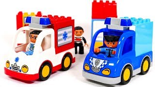 Ambulance and Police Lego Building Blocks Playset | Yippee Toys Video