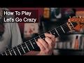 Prince - Let's Go Crazy Rhythm Guitar Tutorial MP3