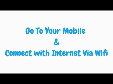 How To Use PC Internet On Mobile