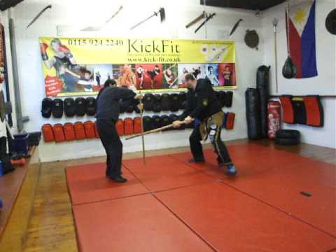 Long Staff FMA  Eskrima Kali Arnis Box patern. Kickfit Martial Arts Academy,Nottingham,UK Image 1