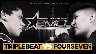 BMCL RAP BATTLE: TRIPLEBEAT VS FOURSEVEN (BATTLEMANIA CHAMPIONSLEAGUE)