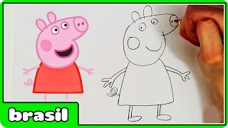 Como Desenhar Peppa Pig | How to Draw Peppa Pig | Drawing for Kids by HooplaKidz Brasil