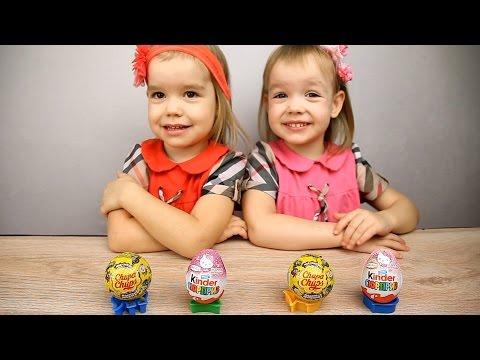 Сюрпризы Чупа Чупс СМЕШАРИКИ и киндер Хелло Китти(Kinder Surprise Hello Kitty)шоколадные шары и яйца