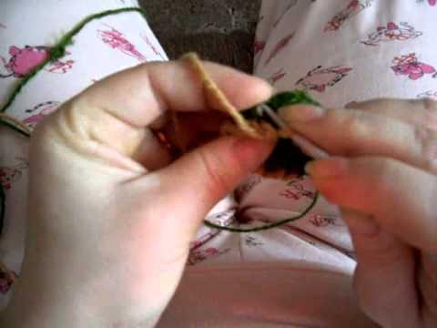 Видеоурок вязания Рачий шаг - видео