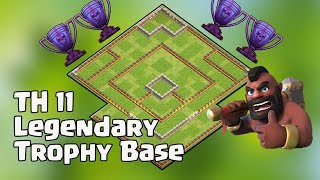 Th11 Legend Trophy Base | Anti 2 star base / Anti Queen Walk Bowler Witch :: Clash Of Clans