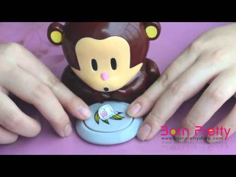 BornPrettyStore Cute Monkey Nail Dryer Nail Art Equipment