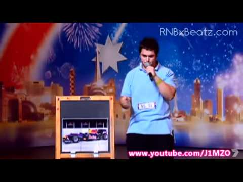 Australia's Got Talent 2012 - Race Car Engine Noises