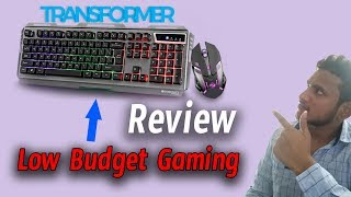 ZEBRONICS Gaming Transformer Keyboard & Mouse Combo Set || review