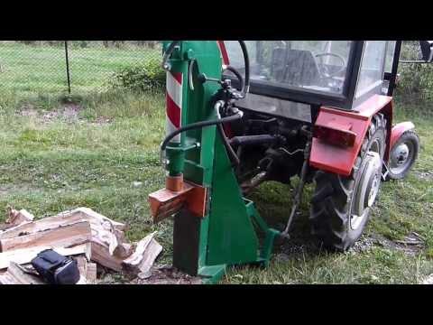Hydrauliczna łuparka do drewna za traktor