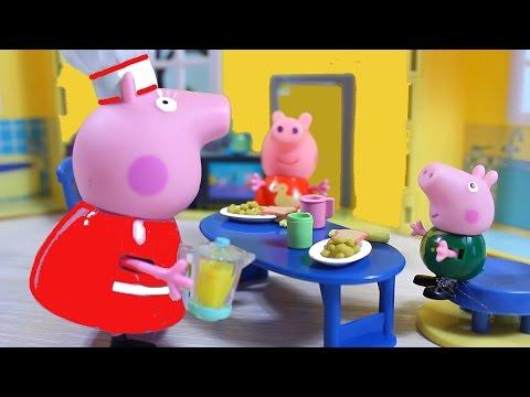 Свинка Пеппа. Мультфильм. Пеппа и Джордж обманули бабушку  Игрушки для детей