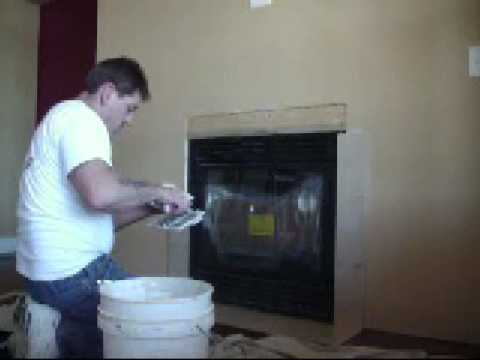 How to tile a fireplace - YouTube