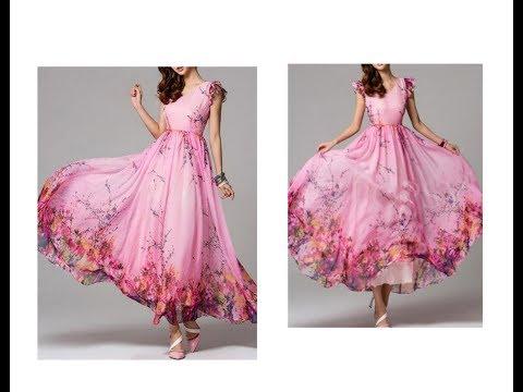 मैक्सी ड्रेस डिजाइन काटना और सिलाई | Maxi Dress Design Cutting and Stitching | Latest Design