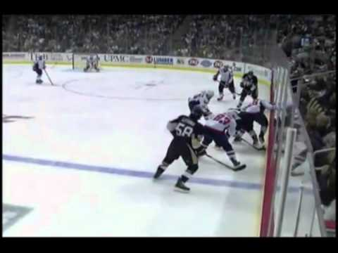 Fight Penguins Arron Asham KOs Capitals Jay Beagle .