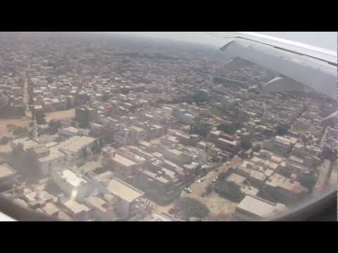 Flying over Karachi city and Landing 11th Oct 2012 HD